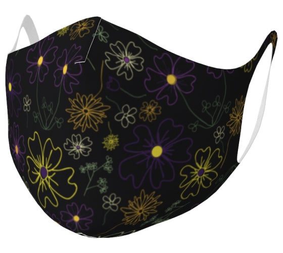 Charming Blooms Garden Party Double Knit Face Mask
