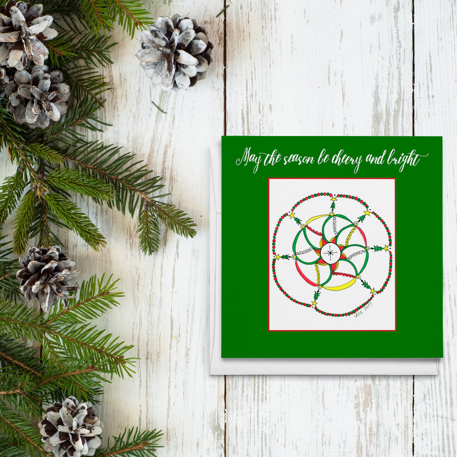 Christmas Mandala Greeting Cards