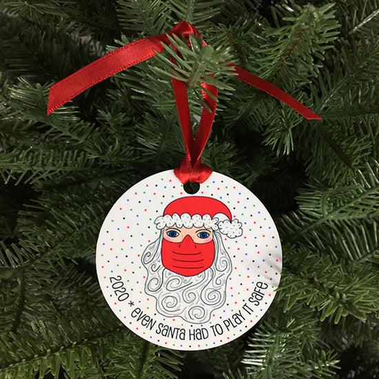Even Santa Had To Play It Safe 2020 Ornament
