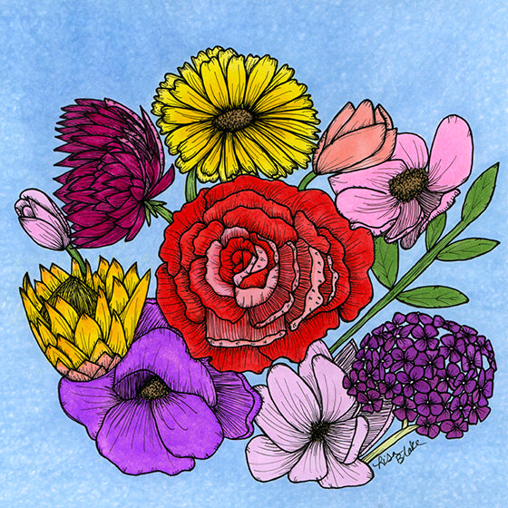 Floral Bouquet Art Print (Eco-friendly)