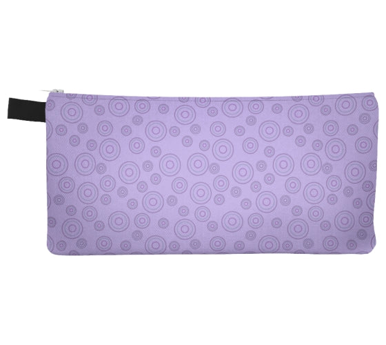 Flowers & Feathers Circles Pencil Case