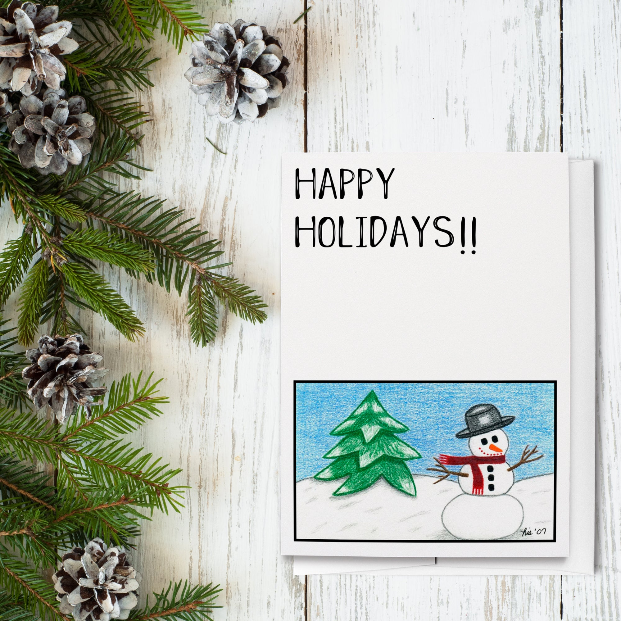 Winter Snowman Holiday Greeting Cards