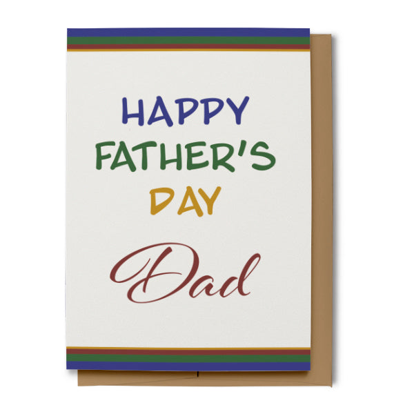 Happy Father's Day Card for Dad (100% Recycled)