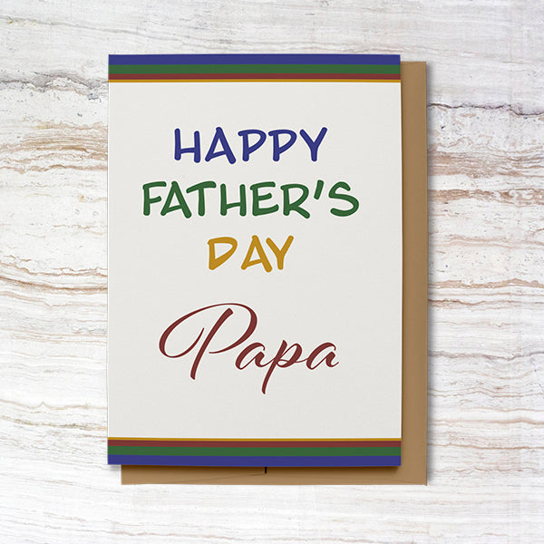 Happy Father's Day Card for Papa (100% Recycled)