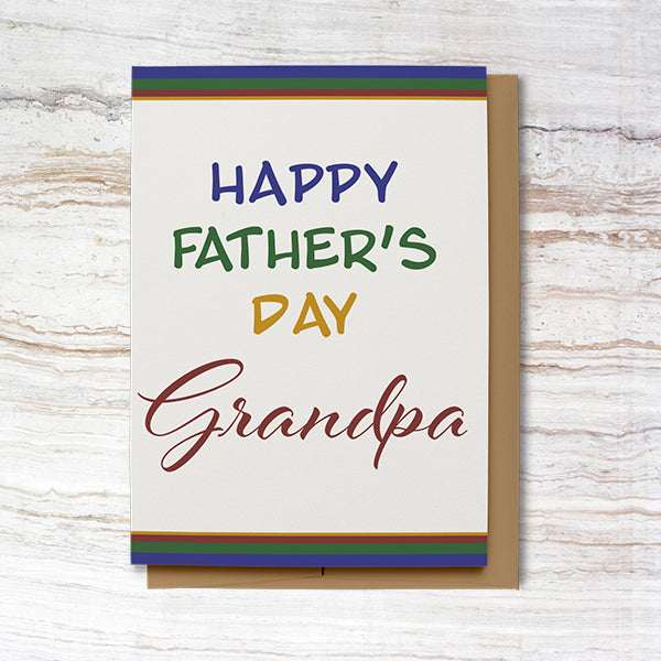 Happy Father's Day Card for Grandpa (100% Recycled)