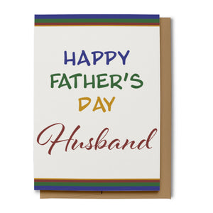 Happy Father's Day Card for Husband (100% Recycled)