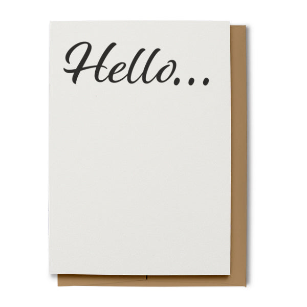 Hello Greeting Card (100% Recycled) - Black