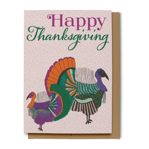 Light Pink Happy Thanksgiving Card (100% Recycled)