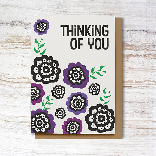 Thinking of You Card - Purple (100% Recycled)