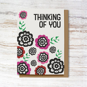 Thinking of You Card - Pink (100% Recycled)