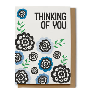 Thinking of You Card - Blue (100% Recycled)