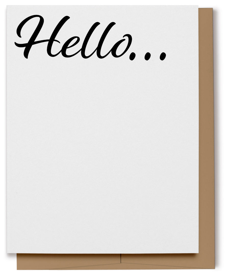 Hello Card - Black (100% Recycled)