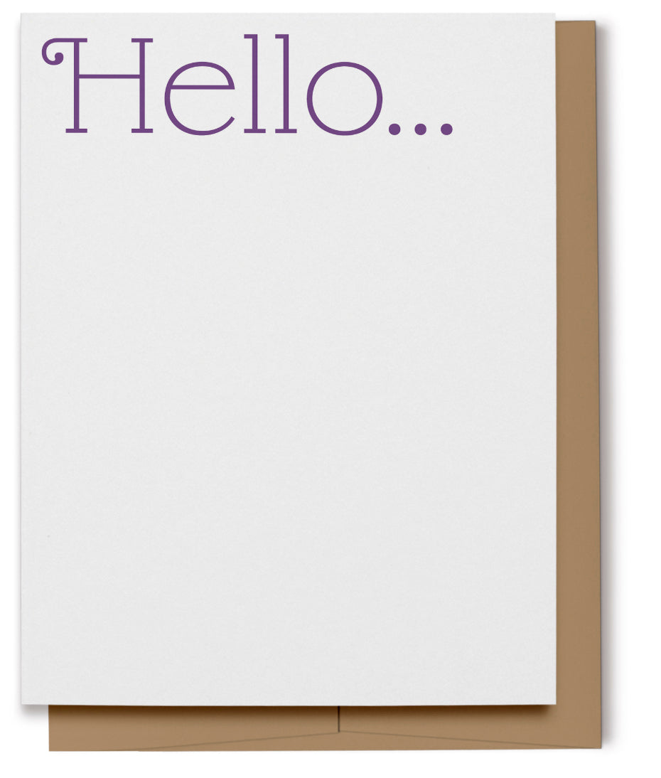 Hello Card - Purple (100% Recycled)