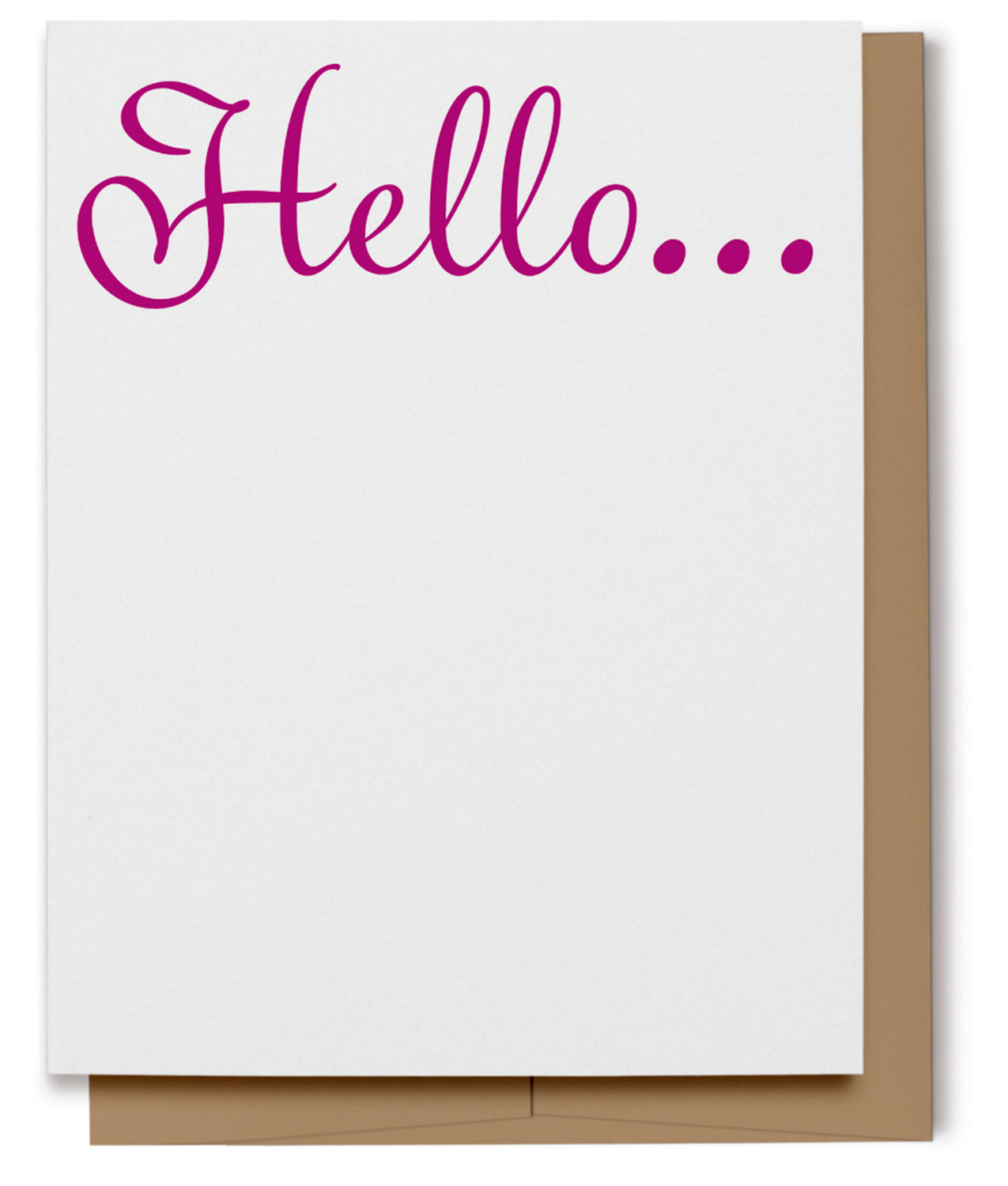 Hello Card - Pink (100% Recycled)