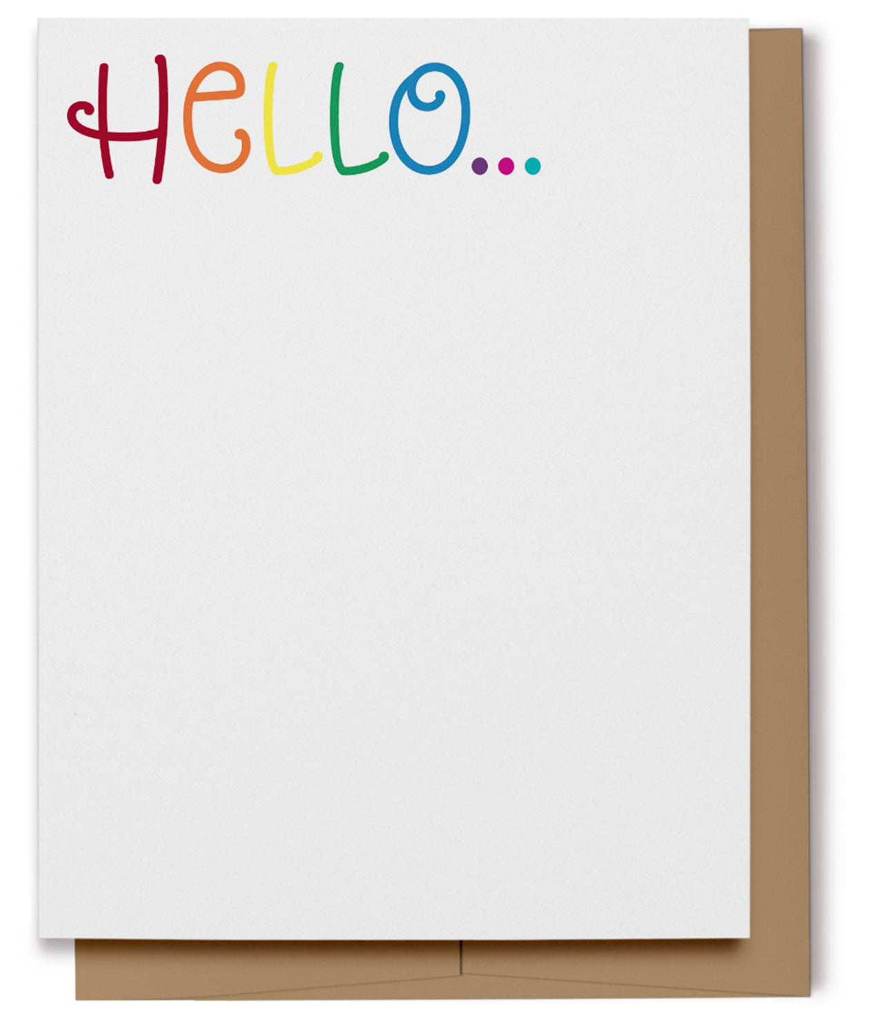 Hello Card - Rainbow (100% Recycled)