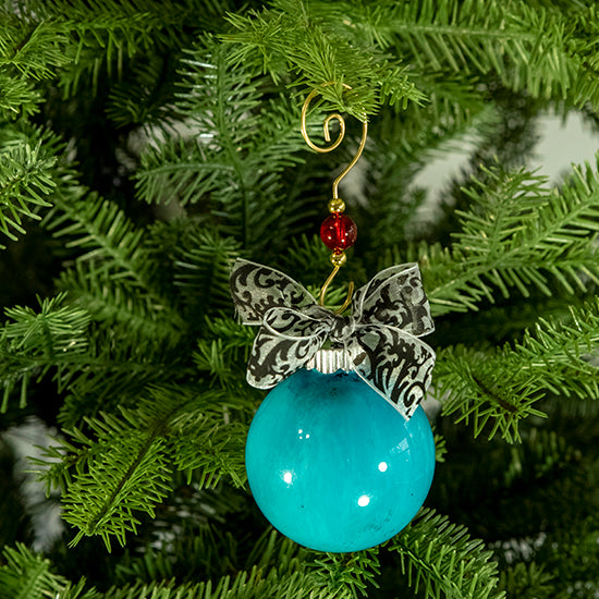 Hand-Painted Glass Ball Ornament Gift Set No. 12