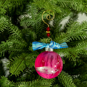 Hand-Painted Glass Ball Ornament Gift Set No. 15