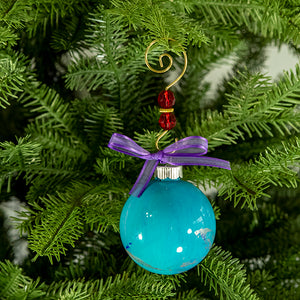 Hand-Painted Glass Ball Ornament Gift Set No. 16