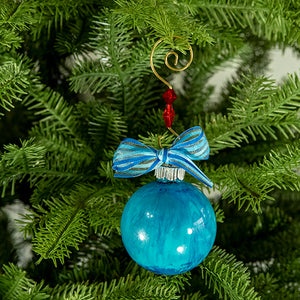 Hand-Painted Glass Ball Ornament Gift Set No. 18