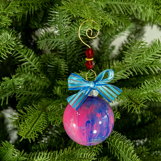 Hand-Painted Glass Ball Ornament Gift Set No. 20
