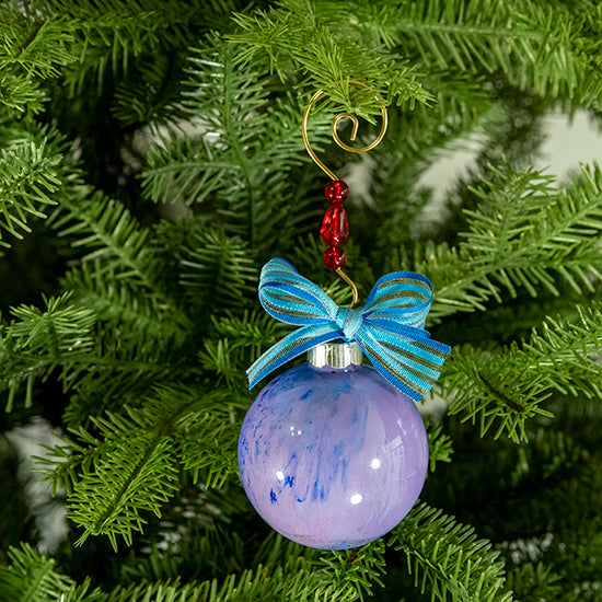 Hand-Painted Glass Ball Ornament Gift Set No. 23