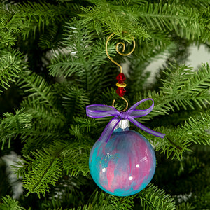 Hand-Painted Glass Ball Ornament Gift Set No. 24