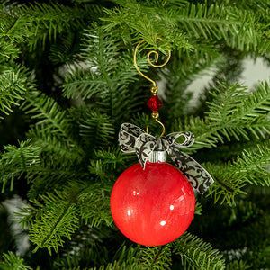 Hand-Painted Glass Ball Ornament Gift Set No. 25