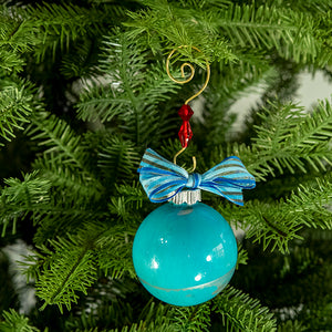 Hand-Painted Glass Ball Ornament Gift Set No. 26