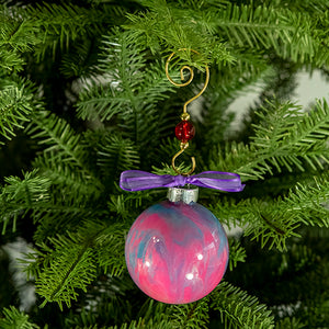 Hand-Painted Glass Ball Ornament Gift Set No. 27