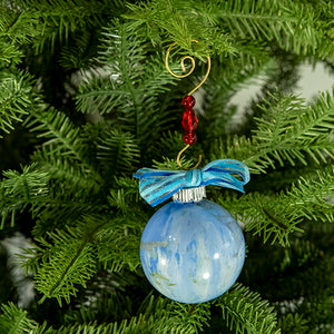 Hand-Painted Glass Ball Ornament Gift Set No. 29