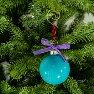 Hand-Painted Glass Ball Ornament Gift Set No. 31