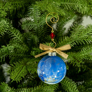 Hand-Painted Glass Ball Ornament Gift Set No. 32