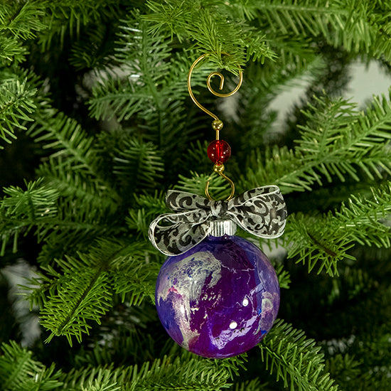 Hand-Painted Glass Ball Ornament Gift Set No. 33