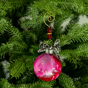Hand-Painted Glass Ball Ornament Gift Set No. 34