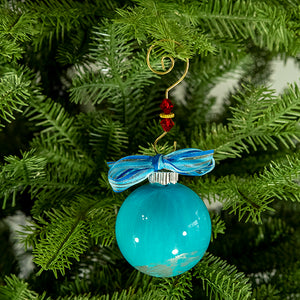 Hand-Painted Glass Ball Ornament Gift Set No. 6