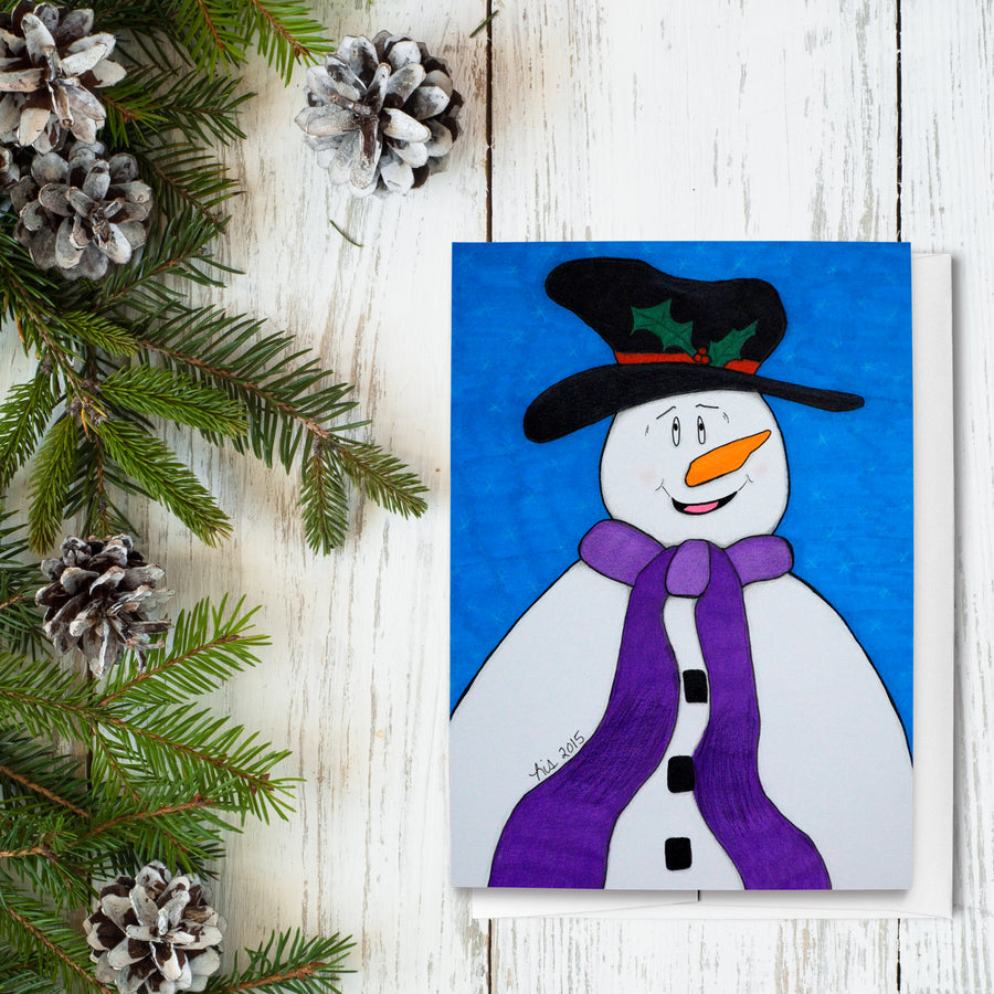 Happiness Snowman Holiday Greeting Cards