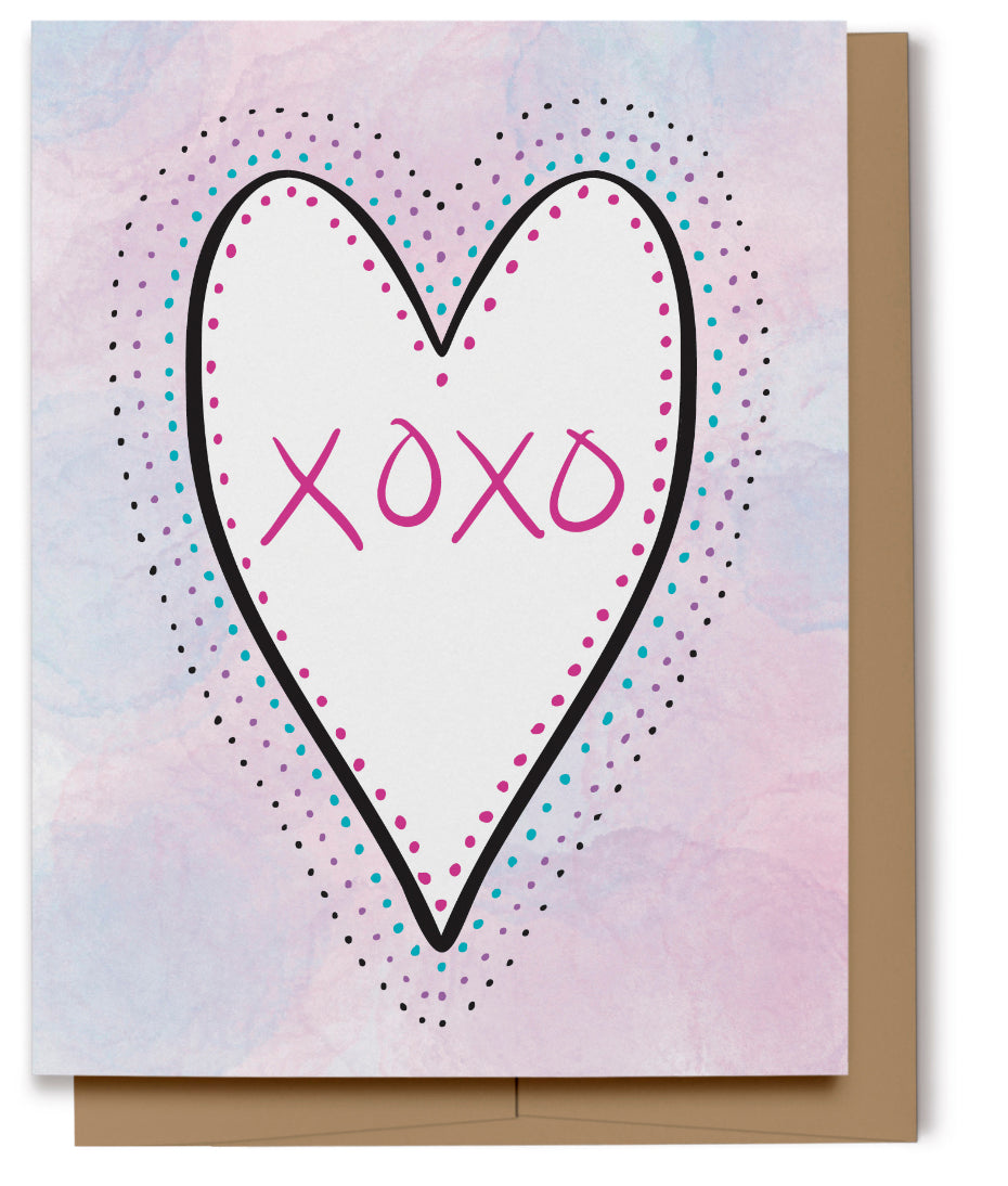 XOXO Love Card (100% Recycled)