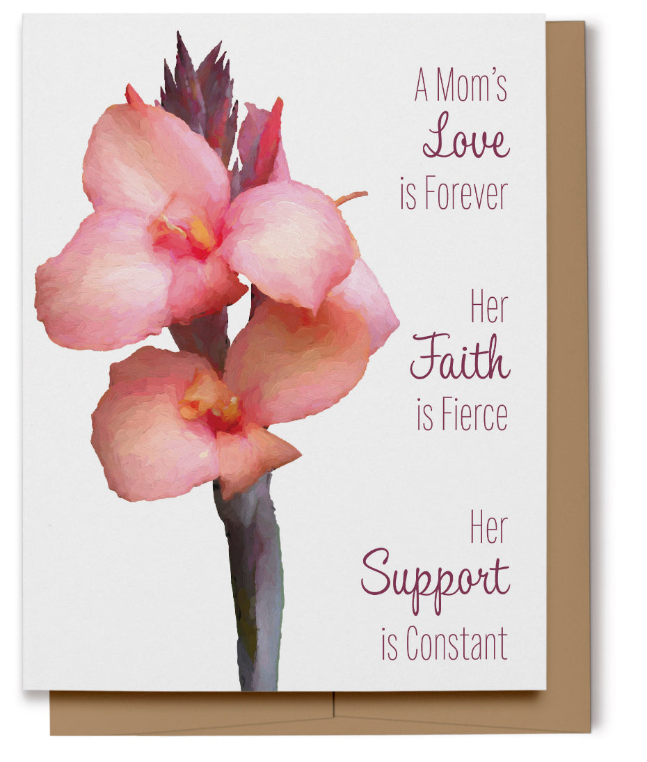 Canna Lily Mom's Love Card (Imperfect)