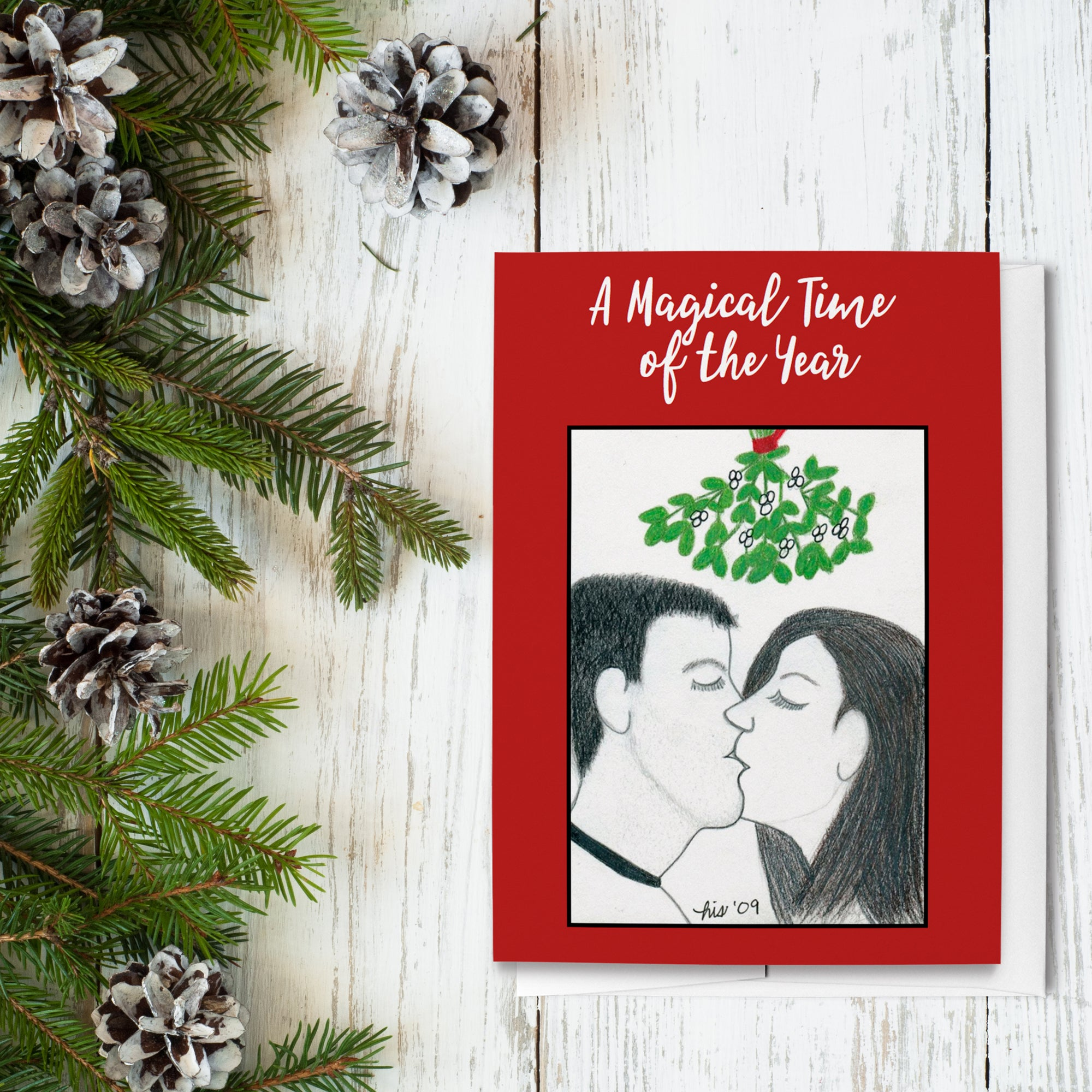 Mistletoe Holiday Greeting Cards