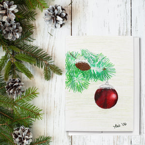 Ornament Folded Greeting Cards