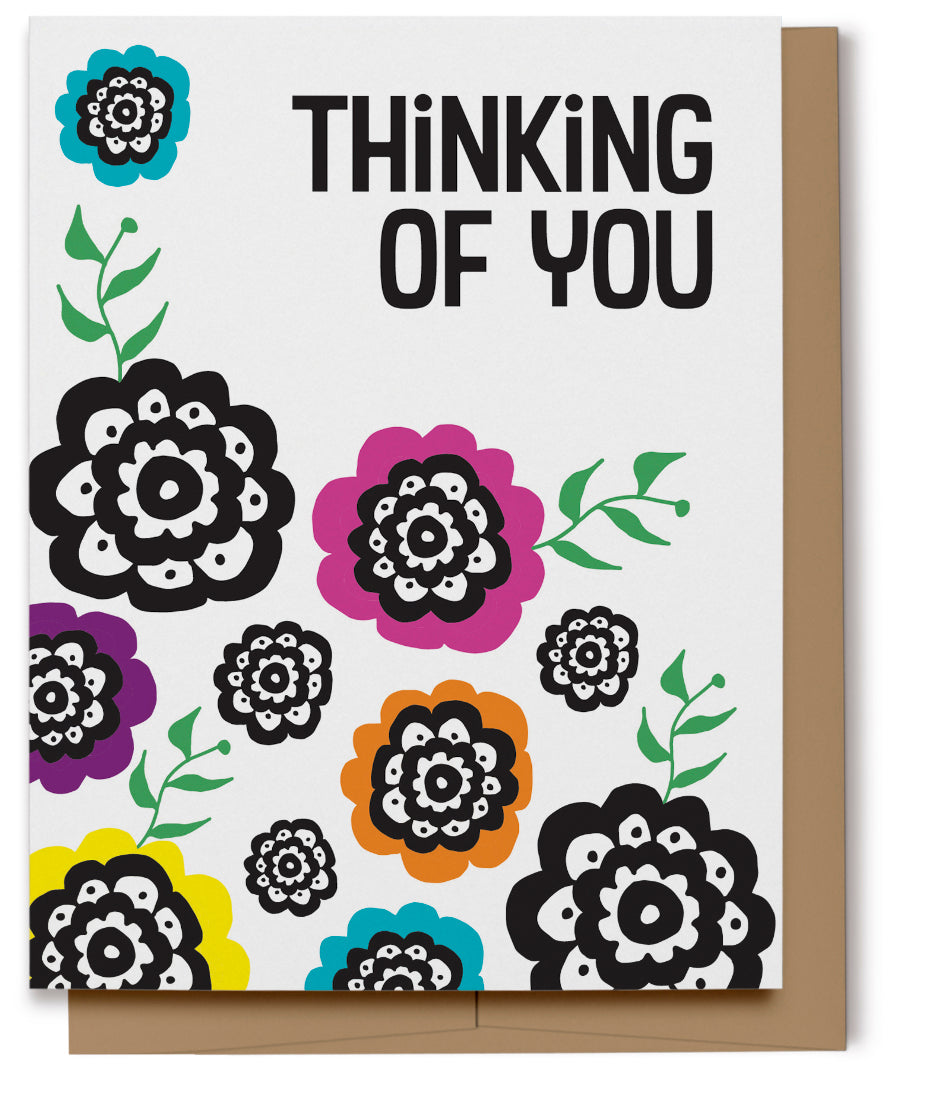 Colorful Thinking of You Card (Imperfect)