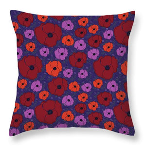 Bold Poppies Throw Pillows