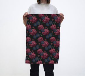 Moody Roses Tea Towel