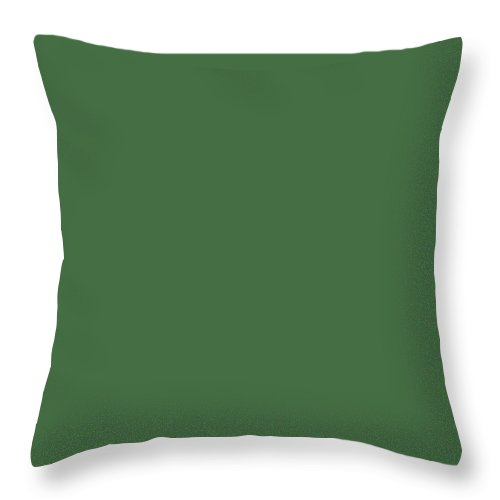 Charming Blooms Dark Green Throw Pillows