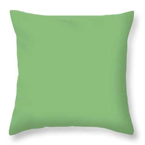 Charming Blooms Light Green Throw Pillows
