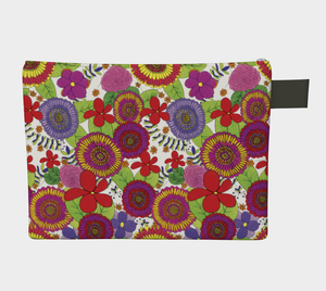 Bright & Cheery Flower Design Pattern Carry-all Pouch