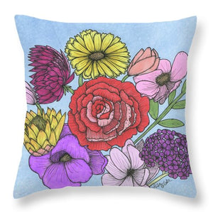 Floral Bouquet Throw Pillows