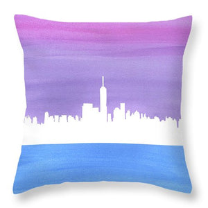 Harmony In The City - New York City Skyline Throw Pillows
