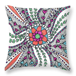Heart Of Joy Throw Pillows