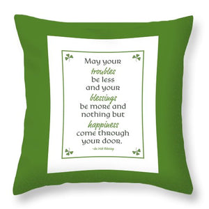 Irish Blessing Throw Pillows